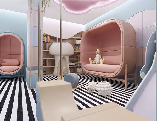 现代儿童活动室3d模型