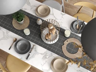 北欧餐具装饰组合 北欧餐具/厨具 摆件 单椅