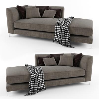 现代布艺贵妃椅3D模型下载