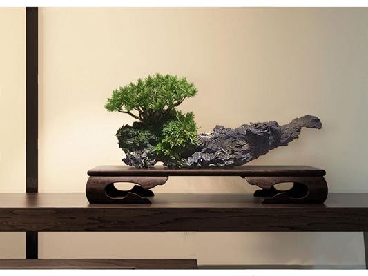 现代新中式木雕摆件