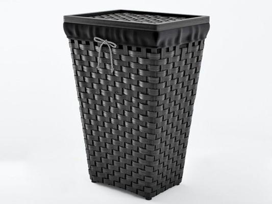 现代竹编垃圾桶3d模型