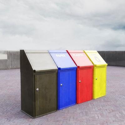 现代垃圾箱组合3d模型
