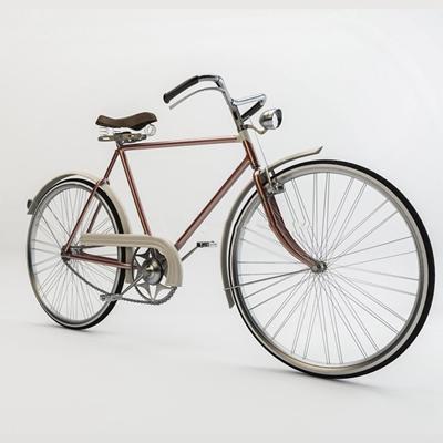 现代单车3D模型