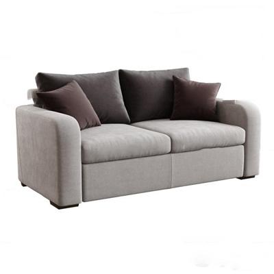 现代布艺双人沙发3d模型