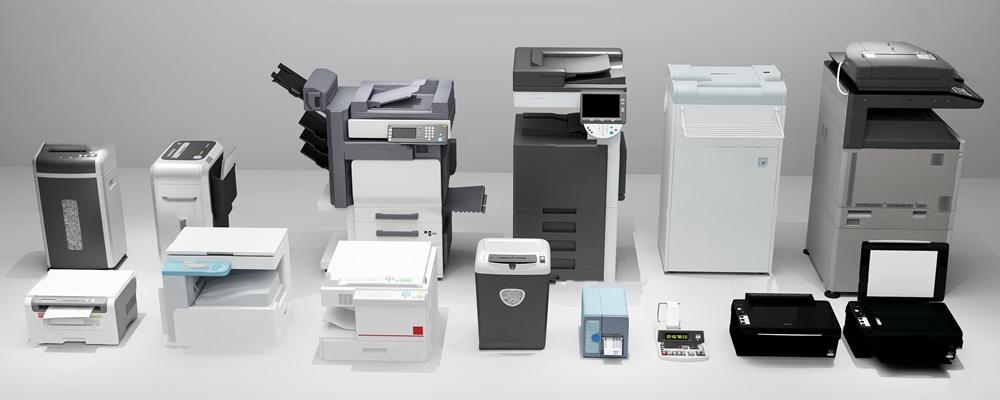 现代复印机打印机组合3D模型