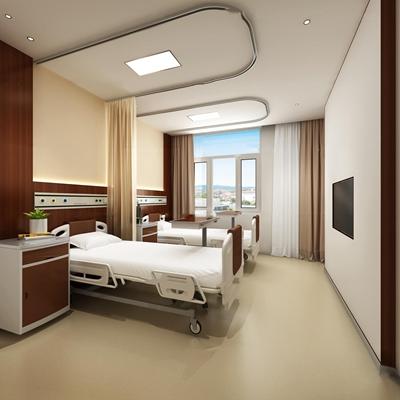 现代中医院双人病房3D模型