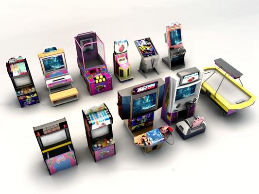 现代电玩城游戏机3D模型