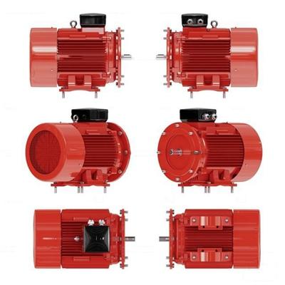 现代红色发动机3D模型