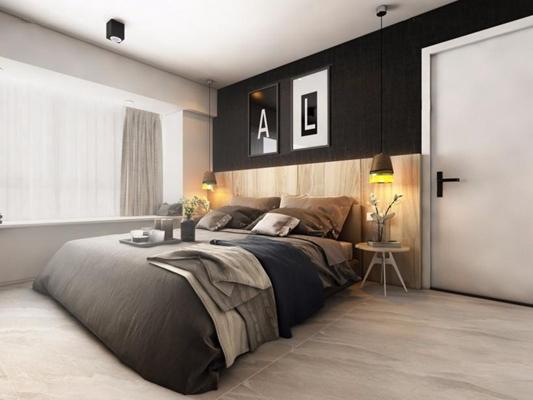 北欧床具 北欧床具 双人床 床头柜 床头灯 装饰画 床品 花瓶 摆件
