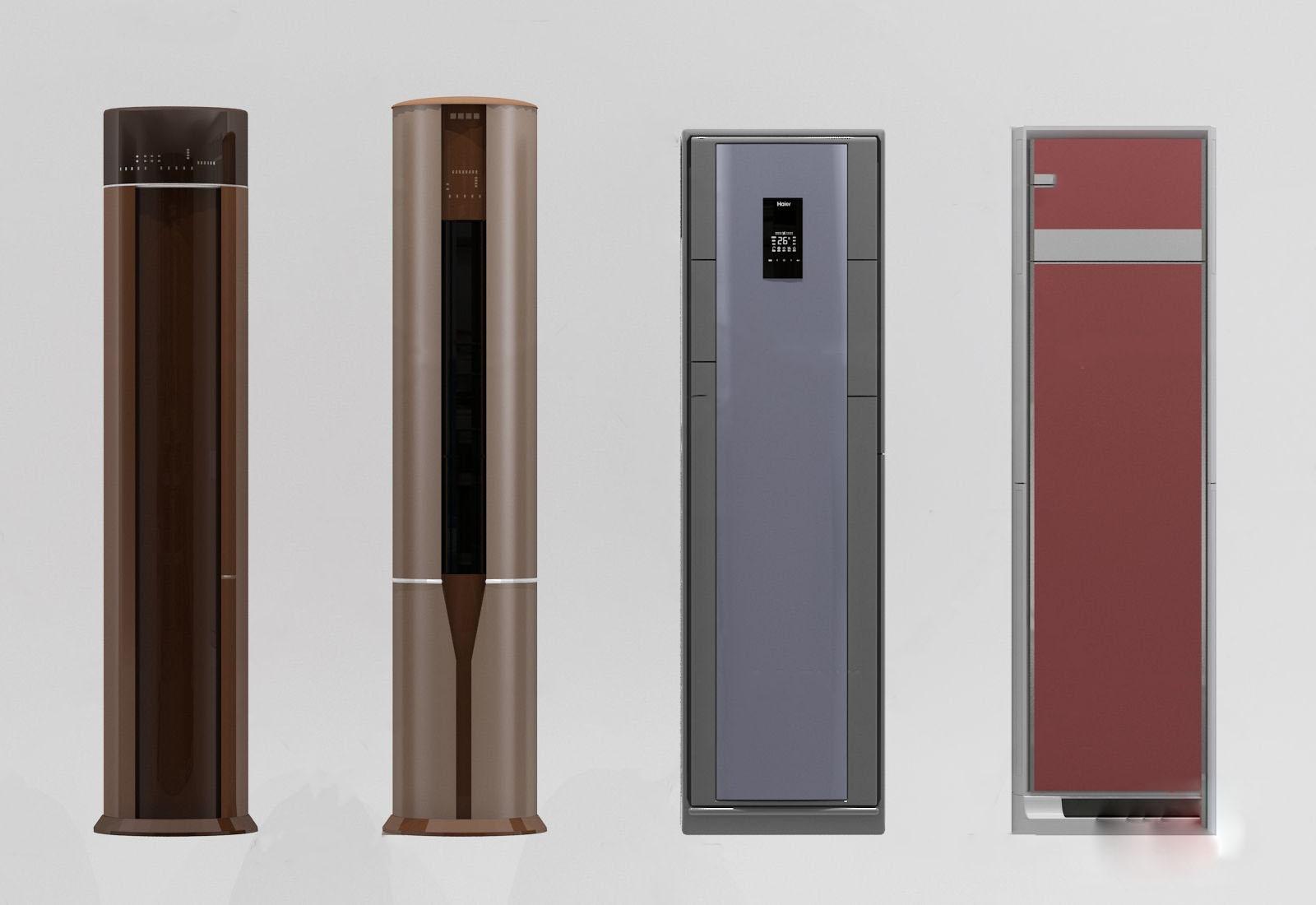 现代柜式空调组合3d模型