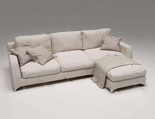 现代多人沙发3D模型下载