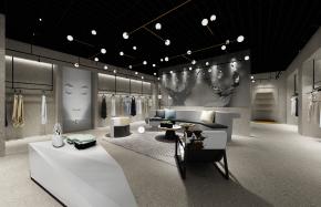 工业风女士服装店3D模型