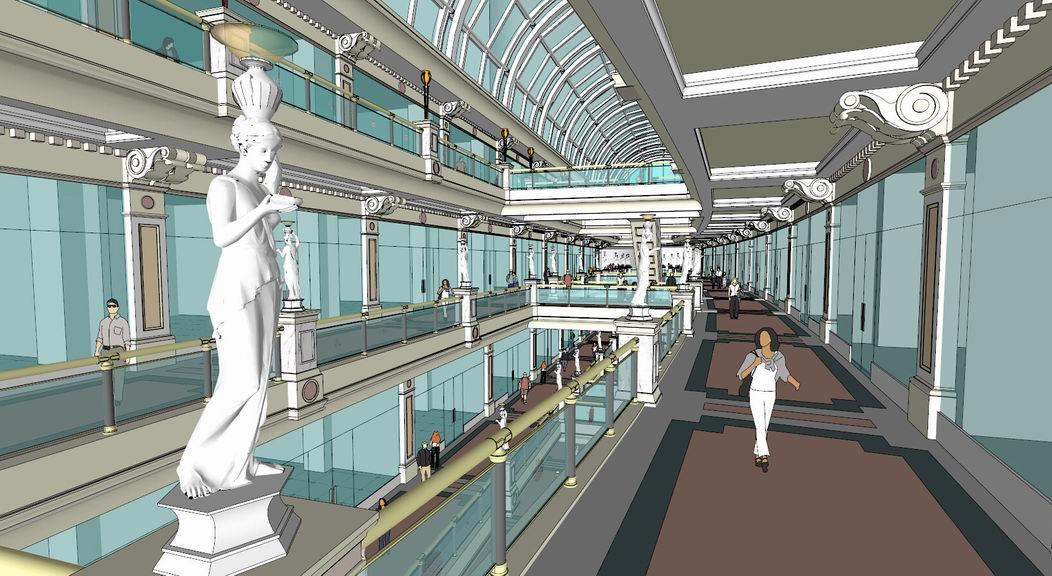 上海环球港购物街SU模型