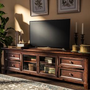 美式实木电视柜摆件组合3D模型