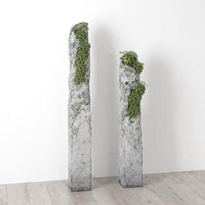 现代石头植物装饰 现代饰品摆件 石头 植物 装饰品