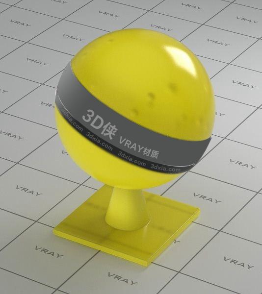 黄色半透明塑料Vray材质下载