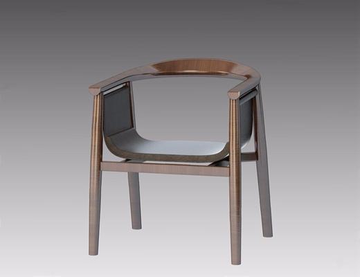 现代餐椅-DBR 现代休闲椅 新中式椅子 单椅 餐椅