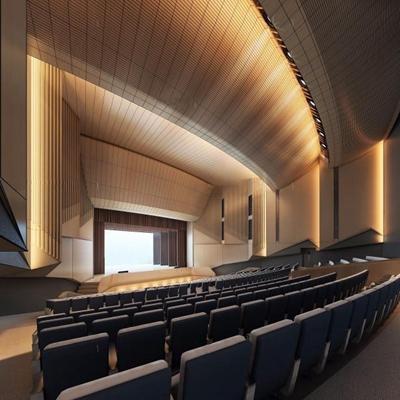 剧院大厅 剧院大厅 座椅 看台 舞台
