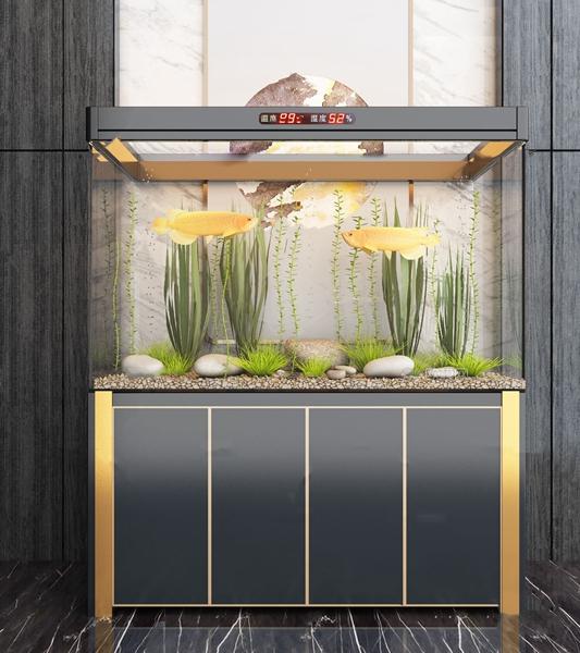 现代轻奢鱼缸水族箱3d模型