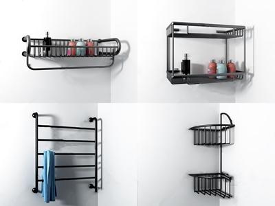 现代卫生间层板架 现代五金 卫生间层板架 挂衣架 卫生间构件