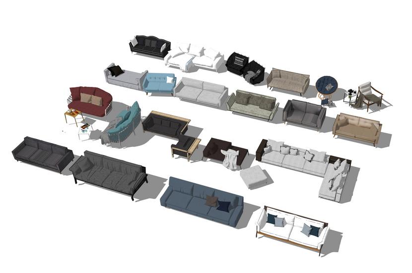 沙发组合SU模型
