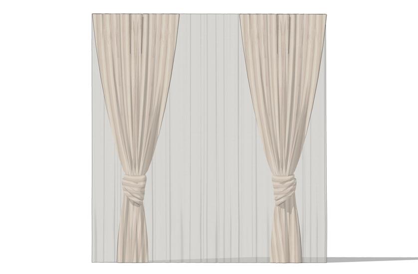 窗帘SU模型