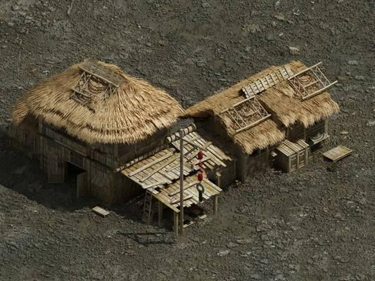 中式建筑3D模型下载