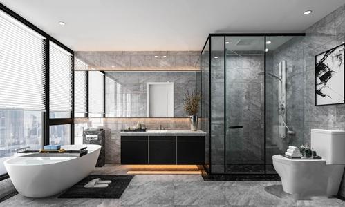 现代卫生间 现代卫浴 浴缸 马桶 淋浴间 卫浴柜 台盆