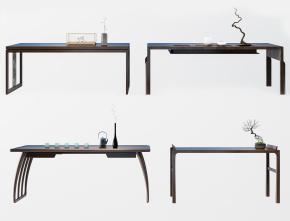 中式書桌擺件組合3D模型