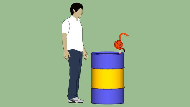 工业系列-设备-泵-铸铁滚筒式手动泵 水桶 蜡烛 瓶子 其他 沙袋