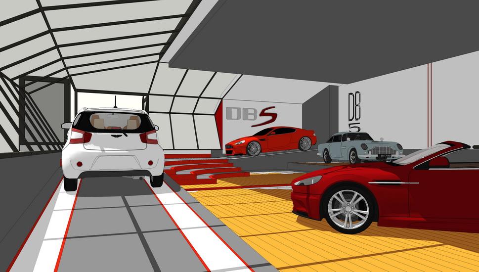 阿斯顿马丁汽车展厅SU模型