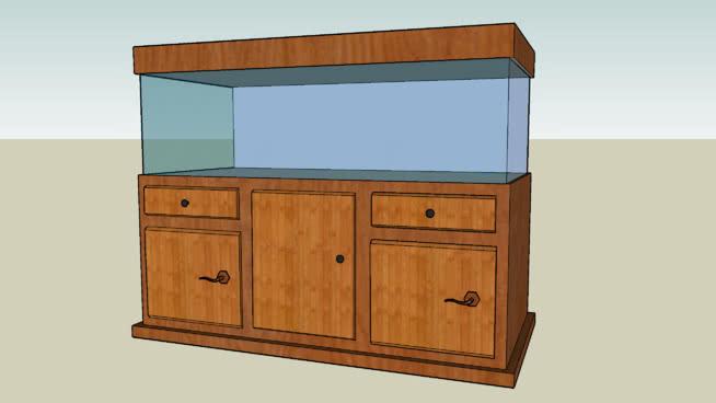 水族箱-木制主题 柜子 家具 书桌 衣柜 家庭电视柜