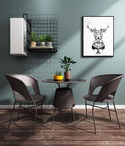 现代藤椅 现代藤椅 休闲藤椅 编藤 绿植 盆景 户外桌椅 挂饰 摆饰 饰品 桌椅挂画