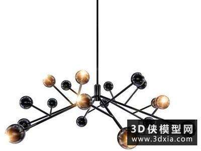 球形枝状吊灯模型