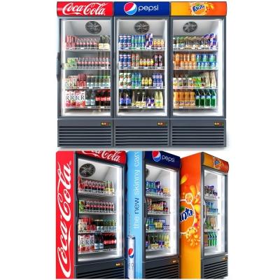 现代饮料冰柜3d模型
