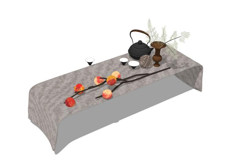 茶具SU模型