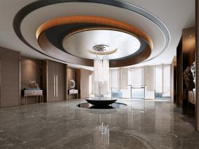 新中式会所过厅3D模型