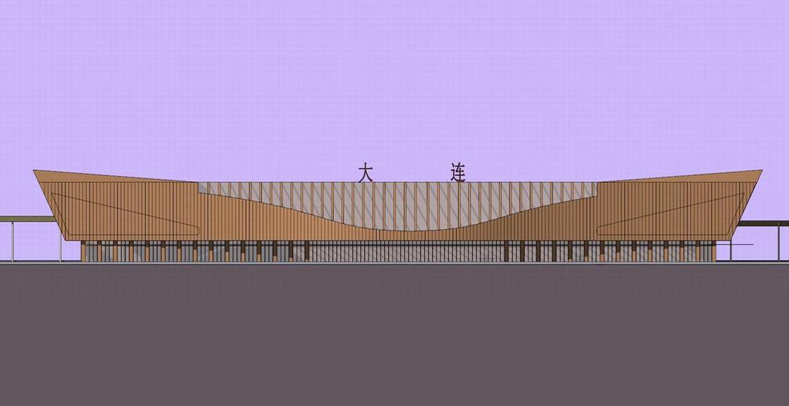 火车站SU模型