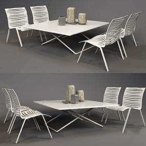 现代户外休闲桌椅 现代户外椅 桌椅组合 餐桌 摆件