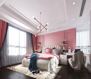 北欧卧室女儿房3D模型
