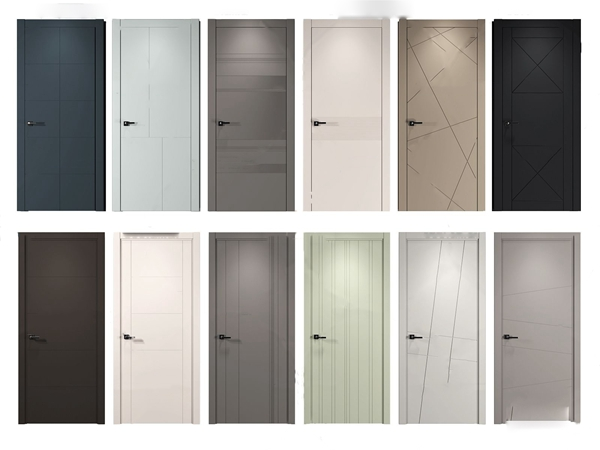 现代平开门房门3d模型