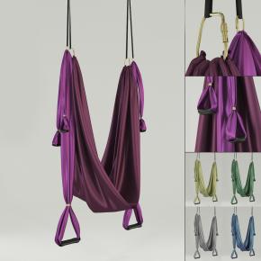 现代空中瑜珈吊环舞蹈练习带3D模型