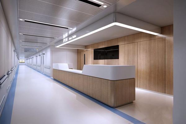 醫院走廊 現代醫院 醫院走廊 吧臺 顯示器