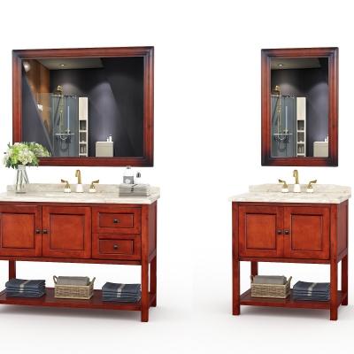 美式实木浴室柜组合3D模型