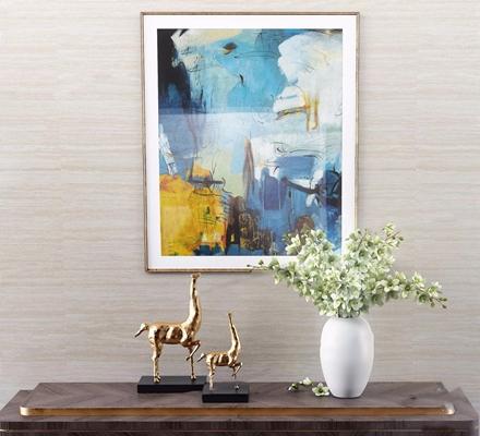 [逸尚东方] 设计新风尚新古典艺术与东方美学的和谐之美摆件 挂画 花瓶 金属摆件 花艺 逸尚东方设计