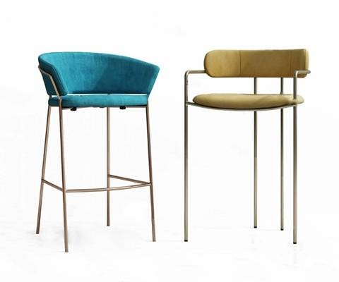 现代吧椅3D模型