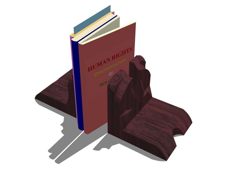 书籍摆设SU模型