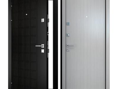 现代简约防盗门3d模型