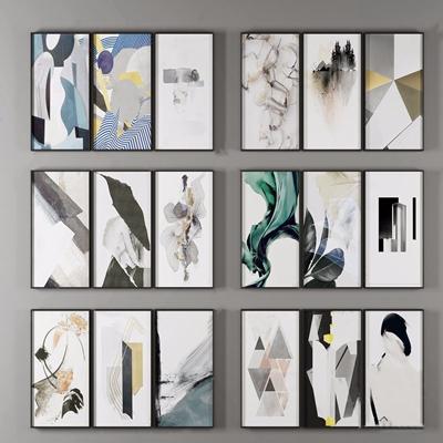 现代抽象装饰画 现代挂画相框 装饰画