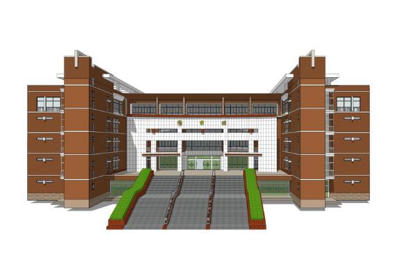 滁州学院图书馆SU模型